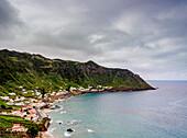 Sao Lourenco Bay, elevated view, Santa Maria Island, Azores, Portugal, Atlantic, Europe