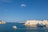 Fort Sant' Angelu, Birgu and the Grand Harbour in Valletta, UNESCO World Heritage Site and European Capital of Culture 2018, Valletta, Malta, Mediterranean, Europe