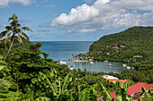 The tropical and very sheltered Marigot Bay, St. Lucia, Windward Islands, West Indies Caribbean, Central America