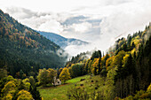 Höllental in autumn, near Freiburg im Breisgau, Black Forest, Baden-Württemberg, Germany