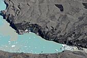 Tasman-Gletschersee in Tasman Glacier Valley, Mount Cook National Park, South Island, New Zealand