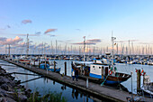 Marina with fishing boat in Kühlungsborn, Baltic Sea coast, Mecklenburg-Western Pomerania Germany