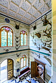 Lobby in the hunting lodge Granitz, Rügen, Ostseeküste, Mecklenburg-Western Pomerania, Germany