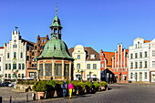 Wasserkunst am Marktplatz, Wismar, Baltic Sea Coast, Mecklenburg-Western Pomerania