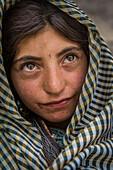 Wakhi girl in Kret, Wakhan, Afghanistan, Asia