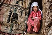Kyrgyz woman of Afghan Pamir, Afghanistan, Asia