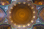 Dome of Sheikh Lotfollah Mosque of Imam Square, Esfahan, Iran, Asia