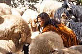 Kurdish goatherd in Palangan, Iran, Asia