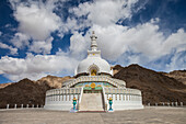 Shanti Stupa in Leh, Ladakh, India, Asia