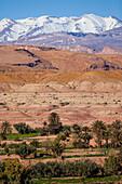 View on Atlas mountain range in Ait Ben Haddou, Morocco, Africa