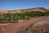 On the beginning of Ounila valley, Morocco, Africa