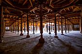 Juma mosque in the historical city of Khiva, Uzbekistan, Asia