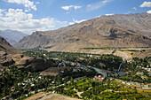 View of botanical garden of Khorugh, Tajikistan, Asia