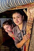 Pamiri girls in Bulunkul, Tajikistan, Asia