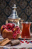 Pomegranate and oriental tea, Iran