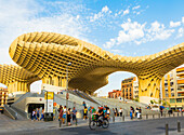 Metropol Parasol designed by the German architect Jurgen Mayer, Seville, Andalucia, Spain, Europe