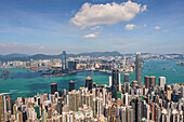 City skyline, viewed from Victoria Peak, Hong Kong, China, Asia