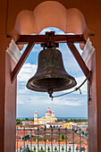 View from the bell tower of the church La Merced to the Cathedral of Granada, Granada, Nicaragua, Central America