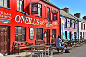 Painted Bars and Restaurant, Allihies, Beara Peninsular, Wild Atlantic Way, County Cork, Munster, Republic of Ireland, Europe