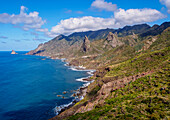 Landscape of the coast near Taganana, Anaga Rural Park, Tenerife Island, Canary Islands, Spain, Atlantic, Europe