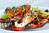 Mud crab and crayfish served in the luxurious Pretty Beach House
