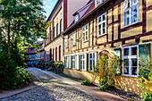 Small alleys at the Johannis Monastery, Stralsund, Ostseekueste, Mecklenburg-Vorpommern, Germany