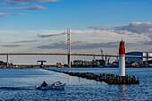 Stralsund, bridge to Ruegen, Ostseekueste, Mecklenburg-Vorpommern Germany