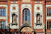 Facade of the University, Rostock, Ostseekueste, Mecklenburg-Vorpommern Germany