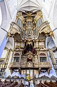 Organ of the Marien Church, Rostock, Baltic Sea Coast, Mecklenburg-Vorpommern Germany