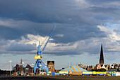 Circus at the harbor, Rostock, Ostseekueste, Mecklenburg-Vorpommern Germany