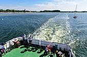 Ferry connection between Vitte and Schaprode, Hiddensee, Ruegen, Ostseekueste, Mecklenburg-Vorpommern, Germany