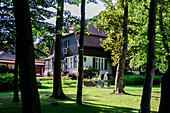 House of writer Gerhart Hauptmann monastery, Hiddensee, Ruegen, Baltic Sea coast, Mecklenburg-Vorpommern, Germany