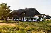Thatched house in Neuendorf, Hiddensee, Ruegen, Ostseekueste, Mecklenburg-Vorpommern Germany