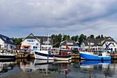 Port of Vitte, Hiddensee, Ruegen, Baltic Sea Coast, Mecklenburg-Vorpommern, Germany