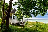 House of the rescue guard in Goehren, Moenchgut peninsula, Ruegen, Baltic Sea coast, Mecklenburg-Vorpommern Germany