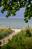 Beach of Goehren, Moenchgut peninsula, Ruegen, Baltic Sea coast, Mecklenburg-Vorpommern Germany
