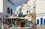 Old Harbour at El Cotillo, Fuerteventura, Canary Islands, Islas Canarias, Atlantic Ocean, Spain, Europe