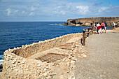 Limekilns from above in the cliffs near Ajuy, Fuerteventura, Canary Islands, Islas Canarias, Atlantic Ocean, Spain, Europe