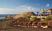 Restaurant at the coast of La Pared, Fuerteventura, Canary Islands, Islas Canarias, Atlantic Ocean, Spain, Europe