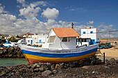 Chapel in a boat at Casas El Jablito, Fuerteventura, Canary Islands, Islas Canarias, Atlantic Ocean, Spain, Europe