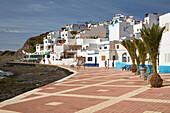 Promenade at Las Playitas, Fuerteventura, Canary Islands, Islas Canarias, Atlantic Ocean, Spain, Europe