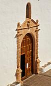 Portal of the church Iglesia de Santa María at Betancuria, Fuerteventura, Canary Islands, Islas Canarias, Atlantic Ocean, Spain, Europe