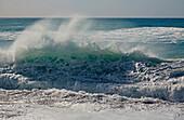 High waves at the coast of Ajuy, Fuerteventura, Canary Islands, Islas Canarias, Atlantic Ocean, Spain, Europe
