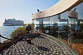Cruiser, Terrace of Castillo de San José, Arrecife, Atlantic Ocean, Lanzarote, Canary Islands, Islas Canarias, Spain, Europe