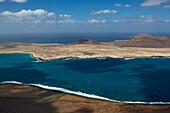 View from the viewpoint Mirador del Rio at Isla La Graciosa, Lanzarote, Canary Islands, Islas Canarias, Spain, Europe