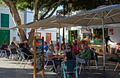 Bar at the Plaza León y Castilloat Haria, Atlantic Ocean, Lanzarote, Canary Islands, Islas Canarias, Spain, Europe