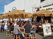 Bar, Sundays' market at Teguise, Atlantic Ocean, Lanzarote, Canary Islands, Islas Canarias, Spain, Europe