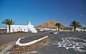 Church Nuestra Senora de los Volcanes, Mancha Blanca, Lanzarote, Canary Islands, Islas Canarias, Spain, Europe