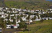 Village of Haria in the valley Valle de las diez mil palmeras, Lanzarote, Canary Islands, Islas Canarias, Spain, Europe