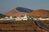 Caldera Blanca and Mancha Blanca in the morning, Lanzarote, Canary Islands, Islas Canarias, Spain, Europe